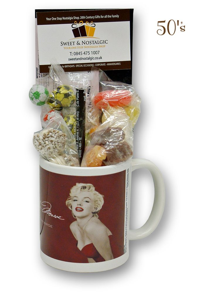 Marilyn Monroe Star Mug With Without 1950s Or 60s Sweets